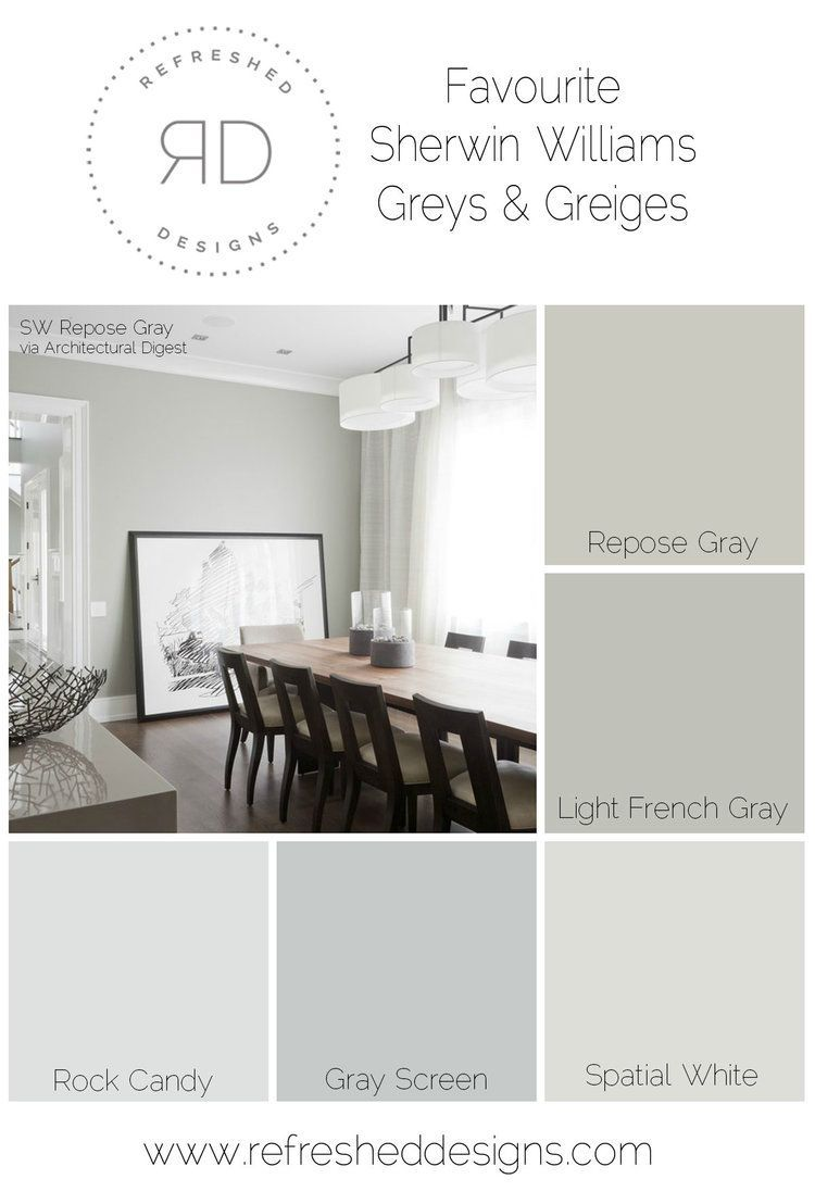 Superb Finding The Perfect Gray Paint   The Best Sherwin Williams Greys And Greiges