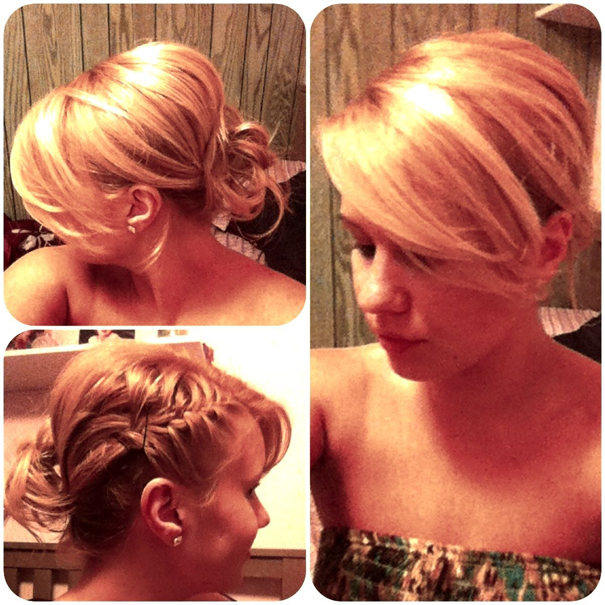 Cute Easy Hairstyles To Do Yourself: Simple Cute Updo, Braid And Side Bang. Easy To Do On