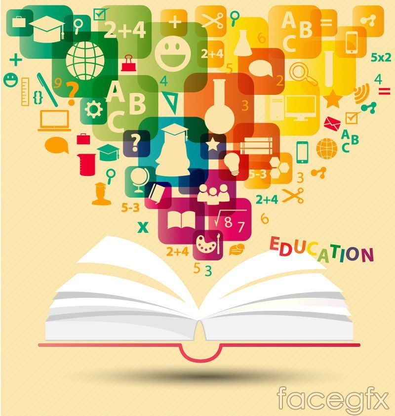 Creative Books Education Background Vector For Free Download With