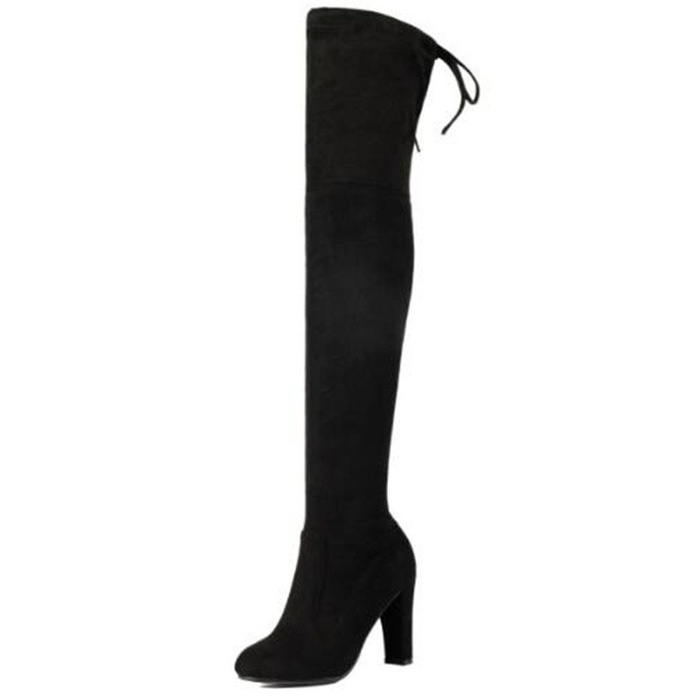 40dfcc76afe Shoe N Tale Women Over The Knee Chunky Heel Stretch Thigh High Boots   Many  thanks for seeing our photo. (This is our affiliate link)   ...
