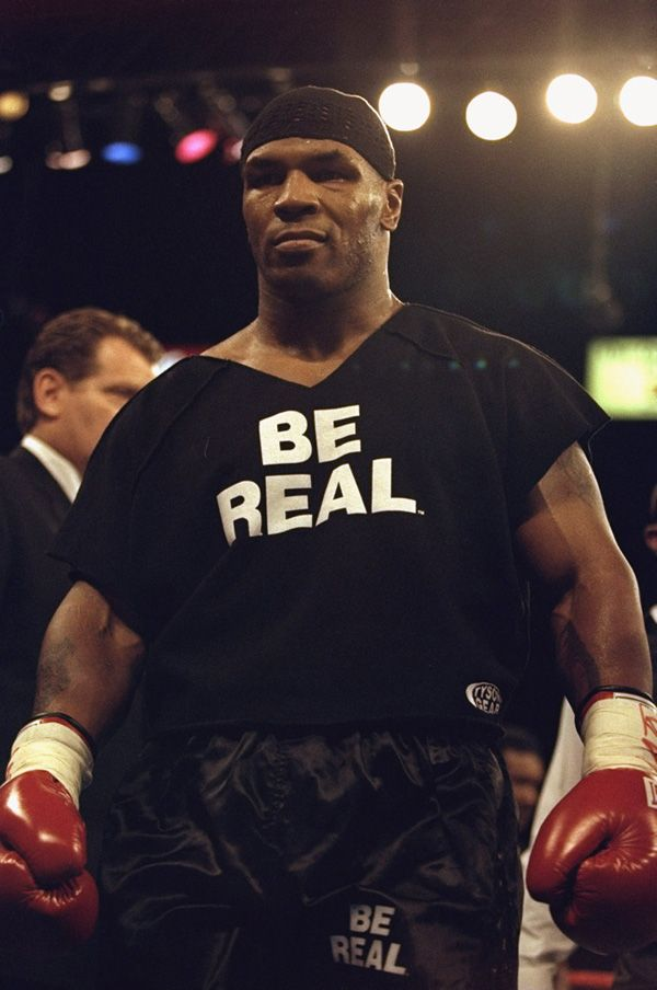 mike tyson be real t shirt. Black Bedroom Furniture Sets. Home Design Ideas