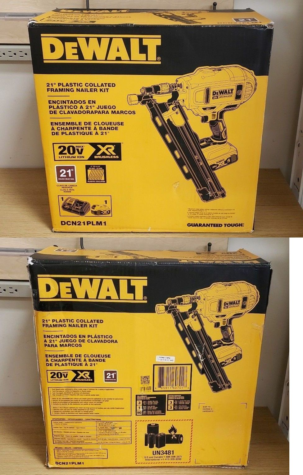 Dewalt Nail Gun Rifle For Sale : dewalt, rifle, DeWalt, DCN21PLM1, Brushless, 21-Degree, Cordless, Framing, Nailer, Nailers,, Dewalt,, Staple