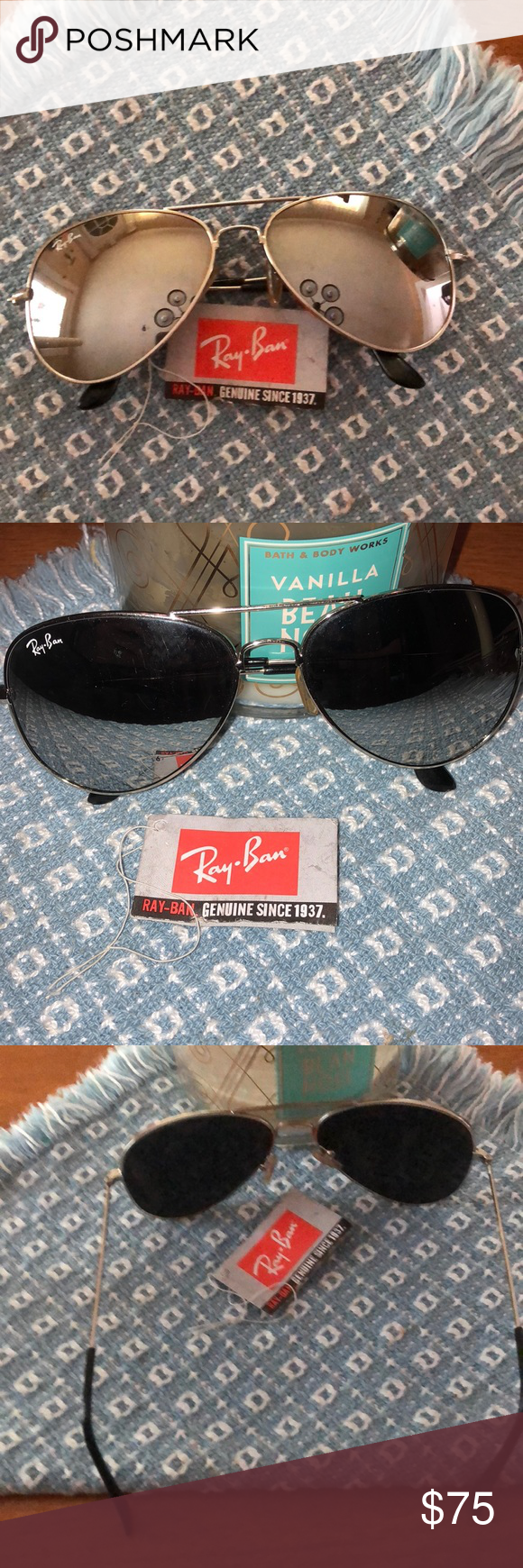 79fc4ac920 Ray-Ban Lei Peng QB2457. RARE GUC Ray-Ban Lei Peng aviators. 2 Small chips  in the left lens. See the last pic. 58mm No box or cloth.