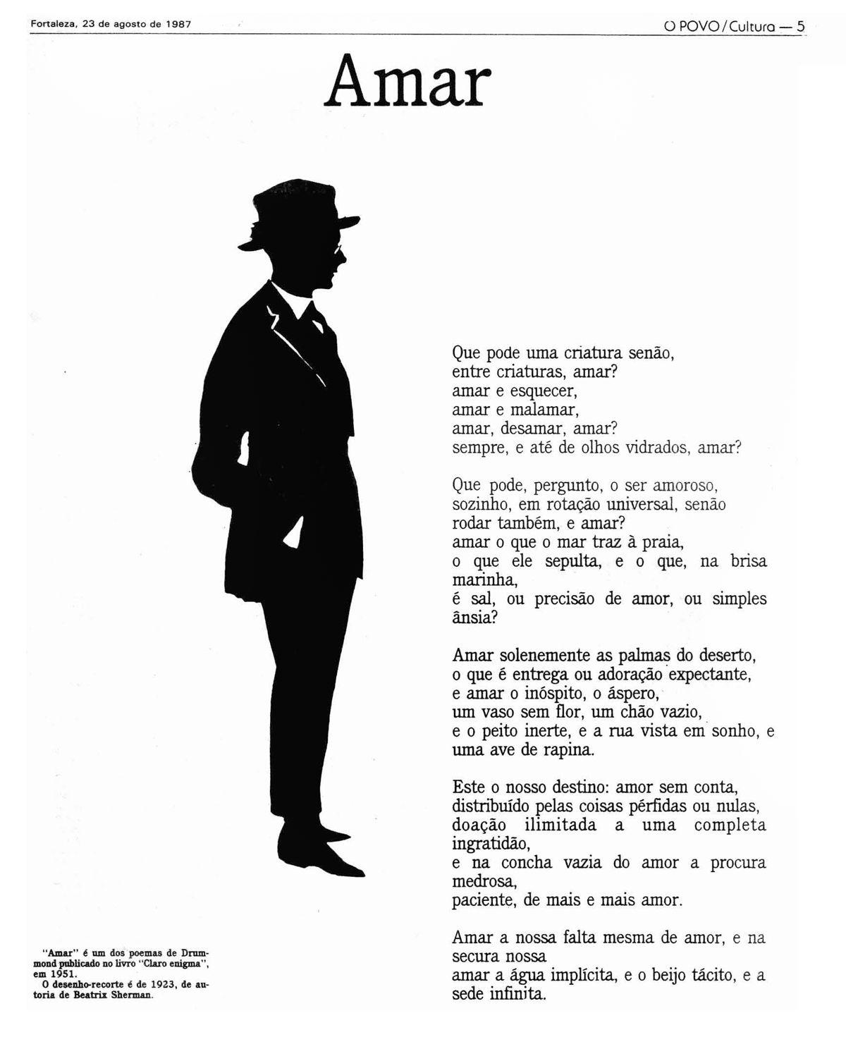 Amar C D A Obras De Fernando Pessoa Poemas De Fernando
