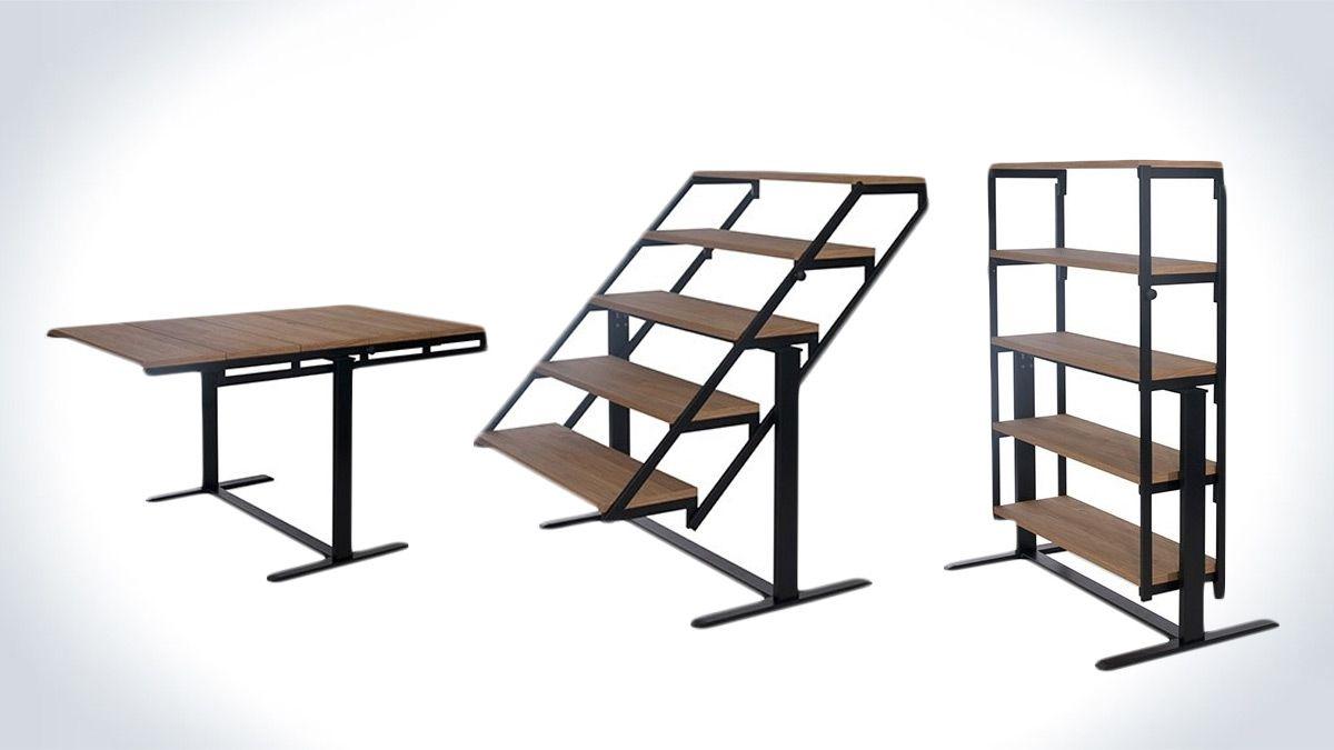 convertible furniture modern swing convertible table shelf dudeiwantthatcom interior