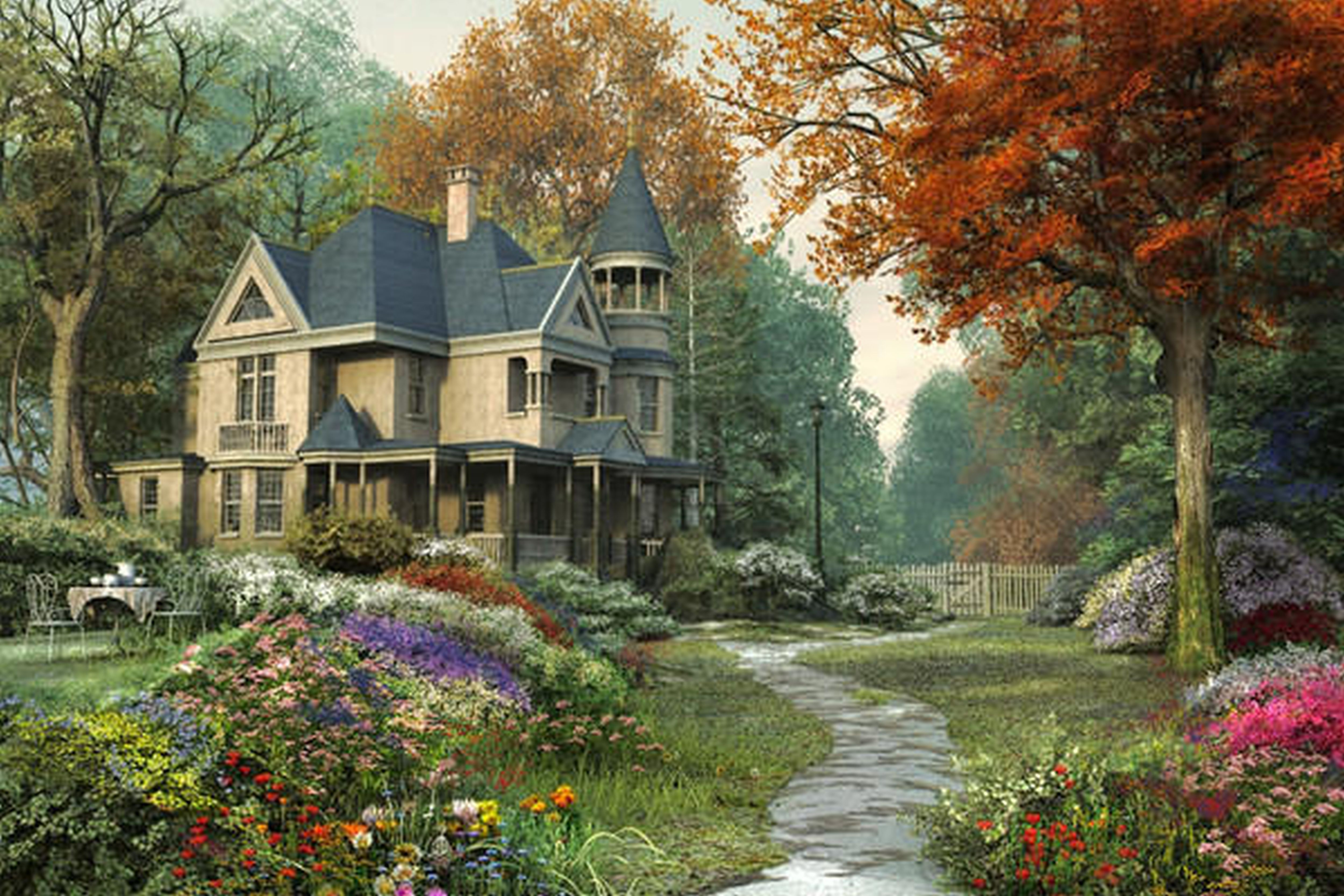 Attractive Landscaping Ideas For Small Backyards Combination Foxy Countryside House Victorian Gardens Landscape