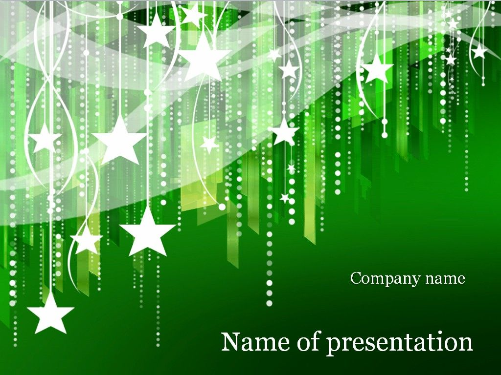 new year powerpoint template christmas starsgreen