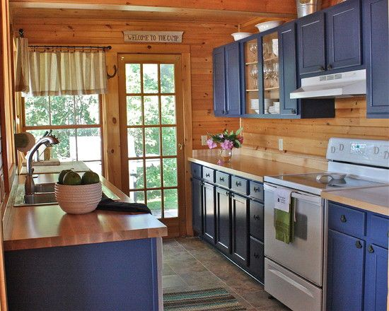Traditional Kitchen Log Cabin Kitchens Design Pictures Remodel Decor And Ideas Page 8