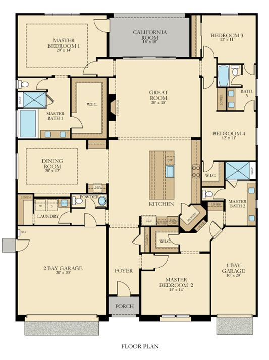 Residence 2943 New Home Plan In Summit View At Blackstone New House Plans Master Suite Floor Plan House Plans One Story