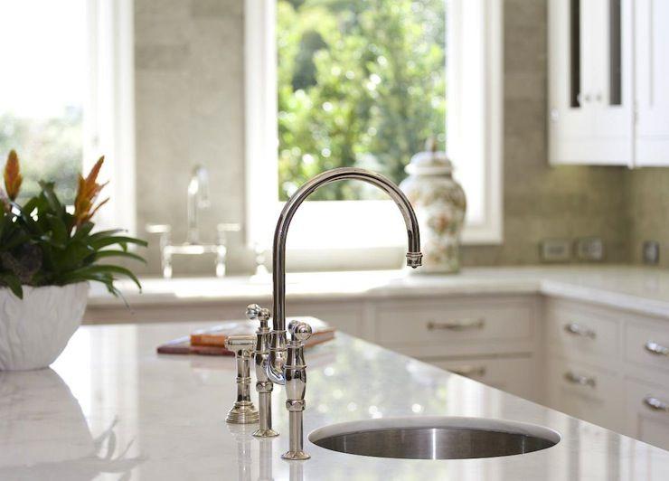 Pretty Like The Looks Of The Backsplash Round Kitchen Sink Kitchen Marble Best Kitchen Sinks