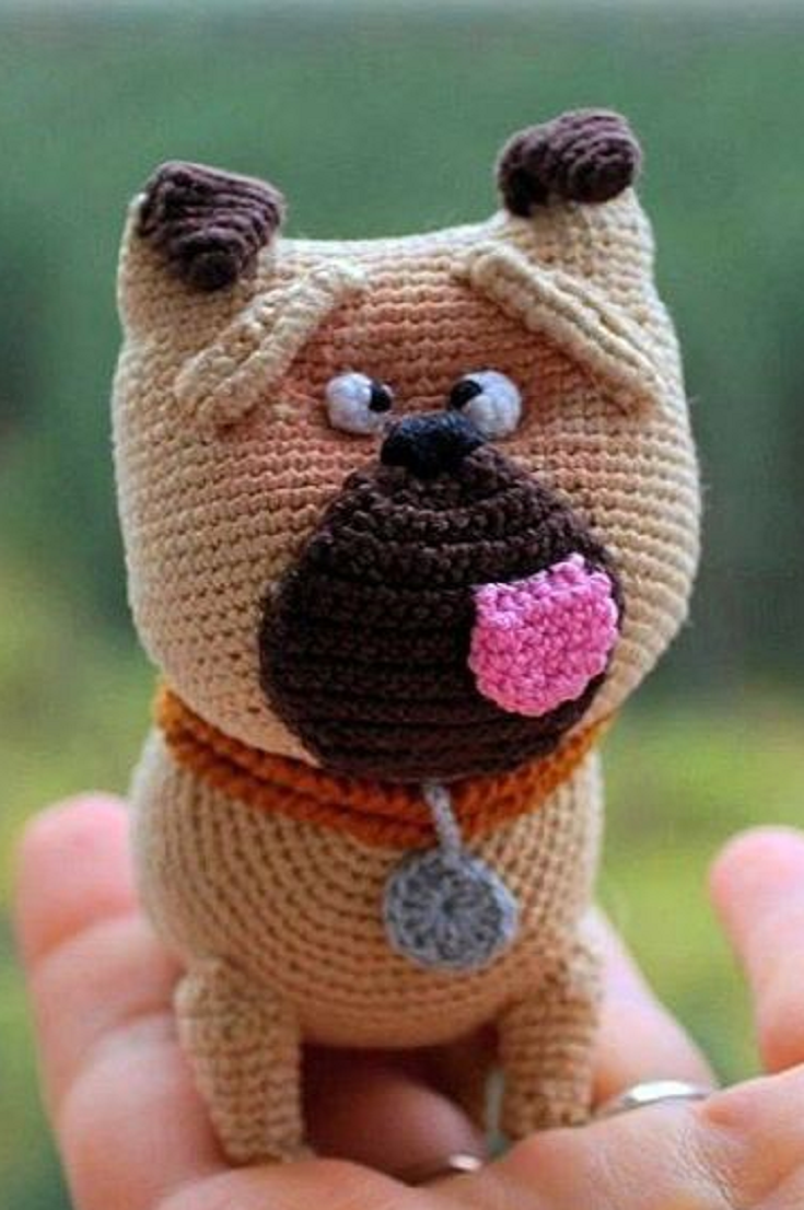 Mel the pug – free crochet pattern | Freebie Jeebies (Crochet ...