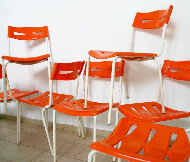 1 4 Vintage Gartenstuhl Stapelstuhl 60er 70er Jahre Stuhl