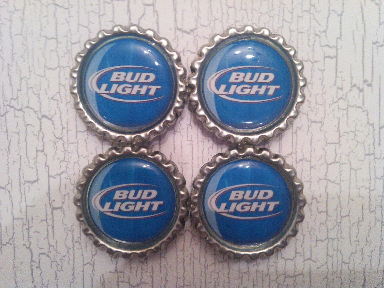 Bud Light 1 inch bottlecap magnets refrigerator fridge
