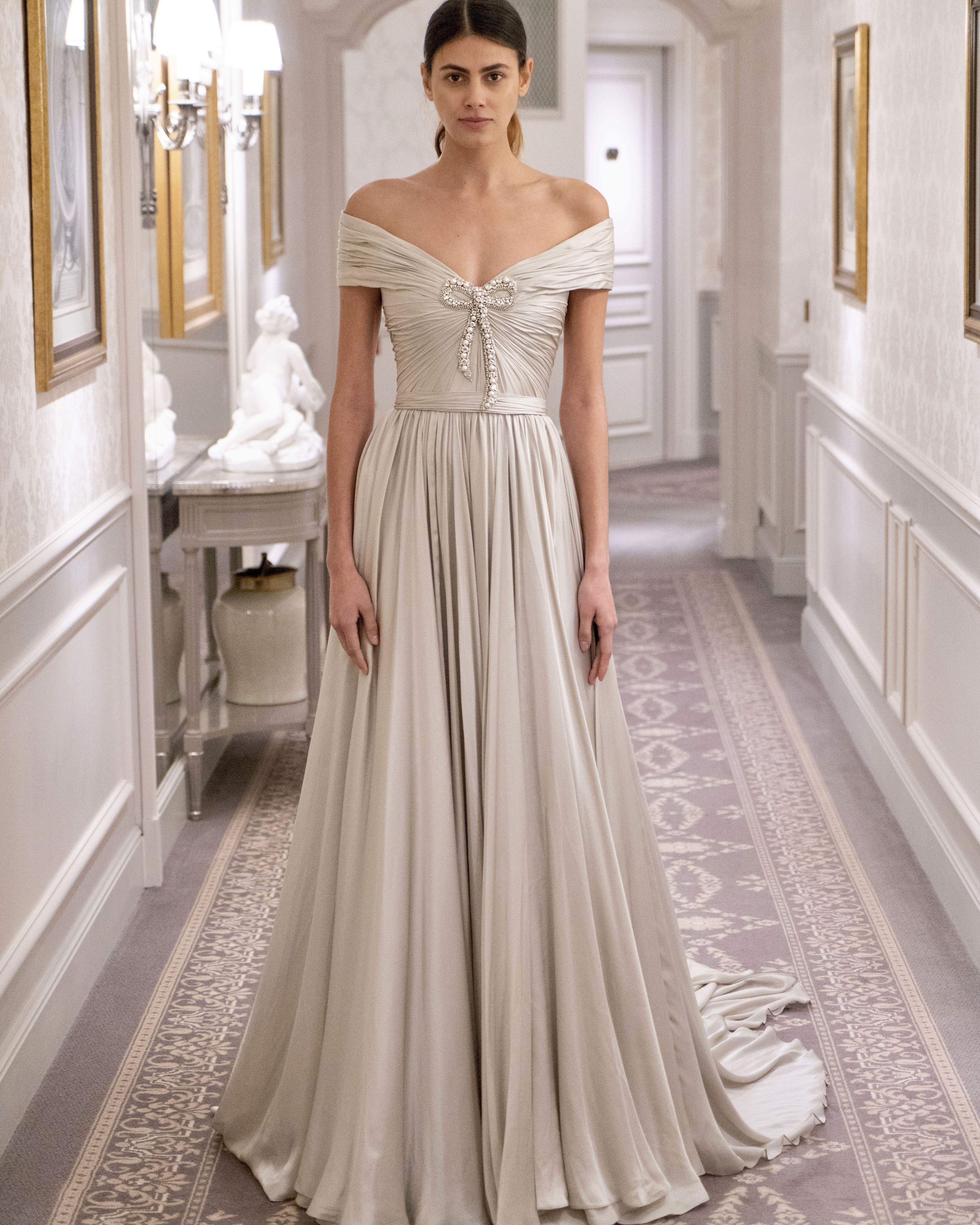 Divine elegance.  TheCelebrationCollection . . . Dress  Silver Lining   ReemAcra  ReemAcraWedding  fashion  bride  bridal  wedding  weddingdress 6df628fc4