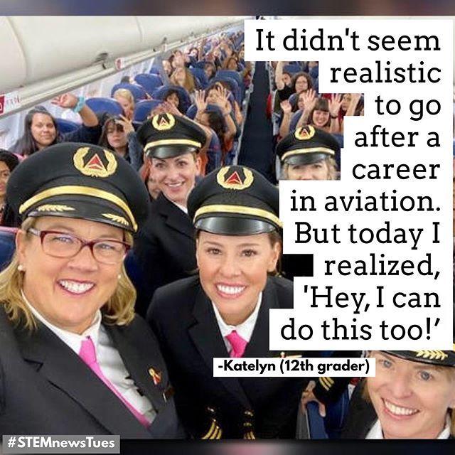 For International Girls in Aviation Day last week Delta