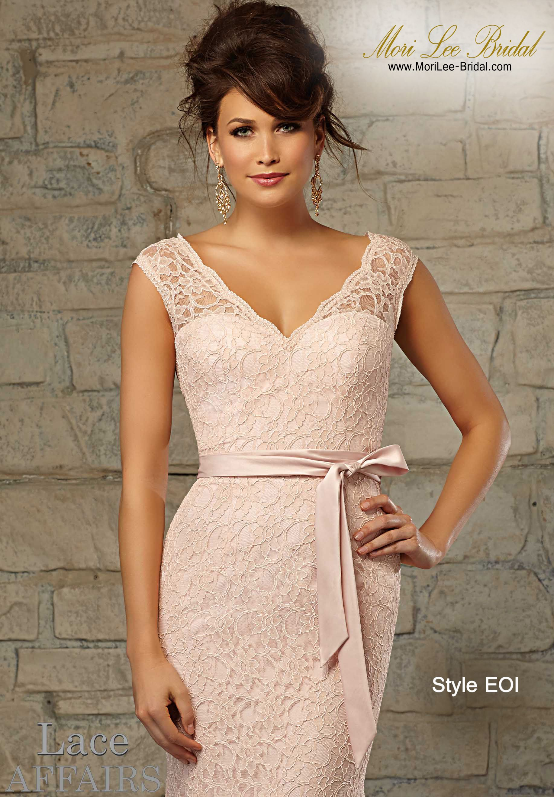 Dress Style Eoi Lace Available In All Mori Lee Bridesmaids Solid Colors