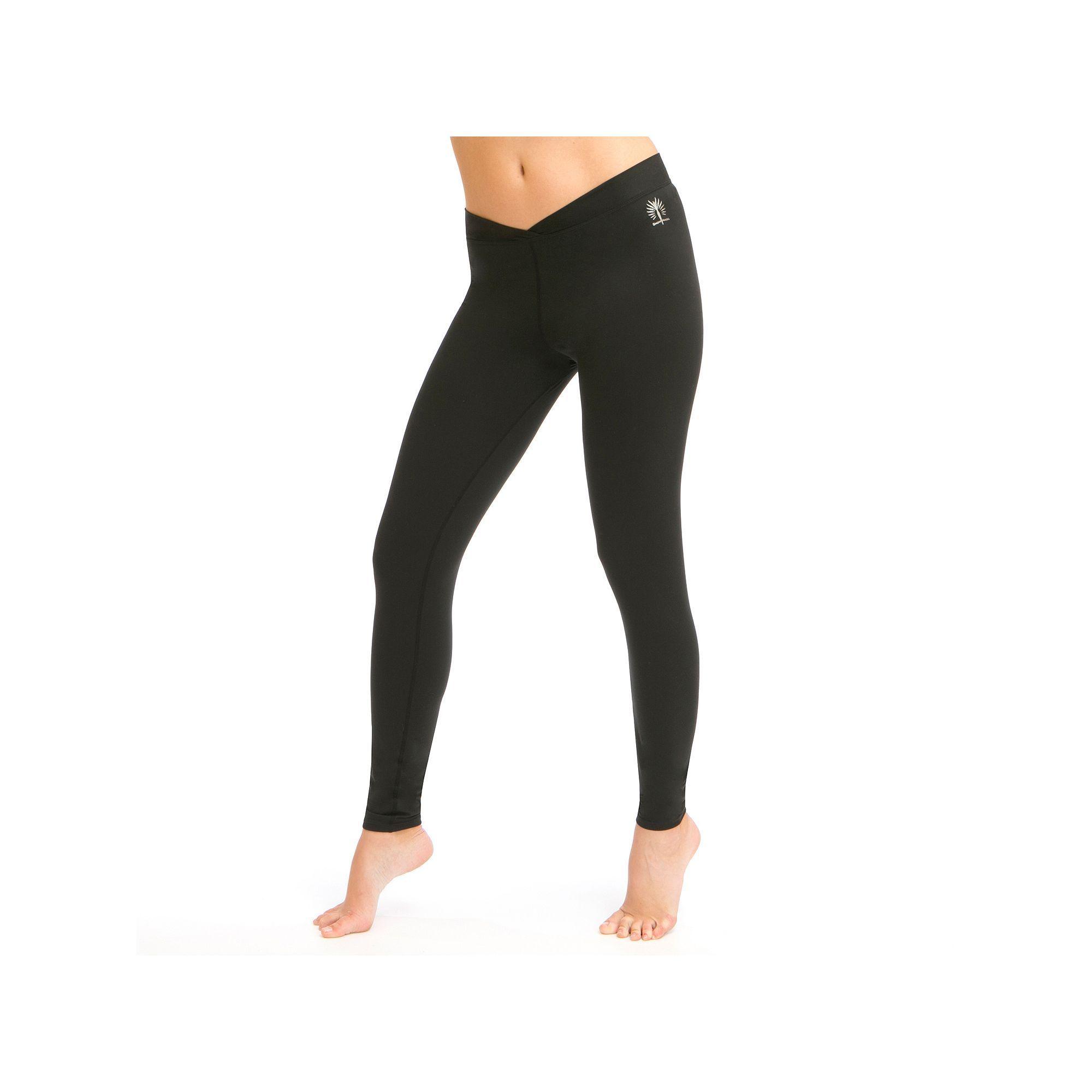 Women's Snow Angel Doeskin V-Waist Base Layer Leggings, Size: Xsml Av/Rg, Black