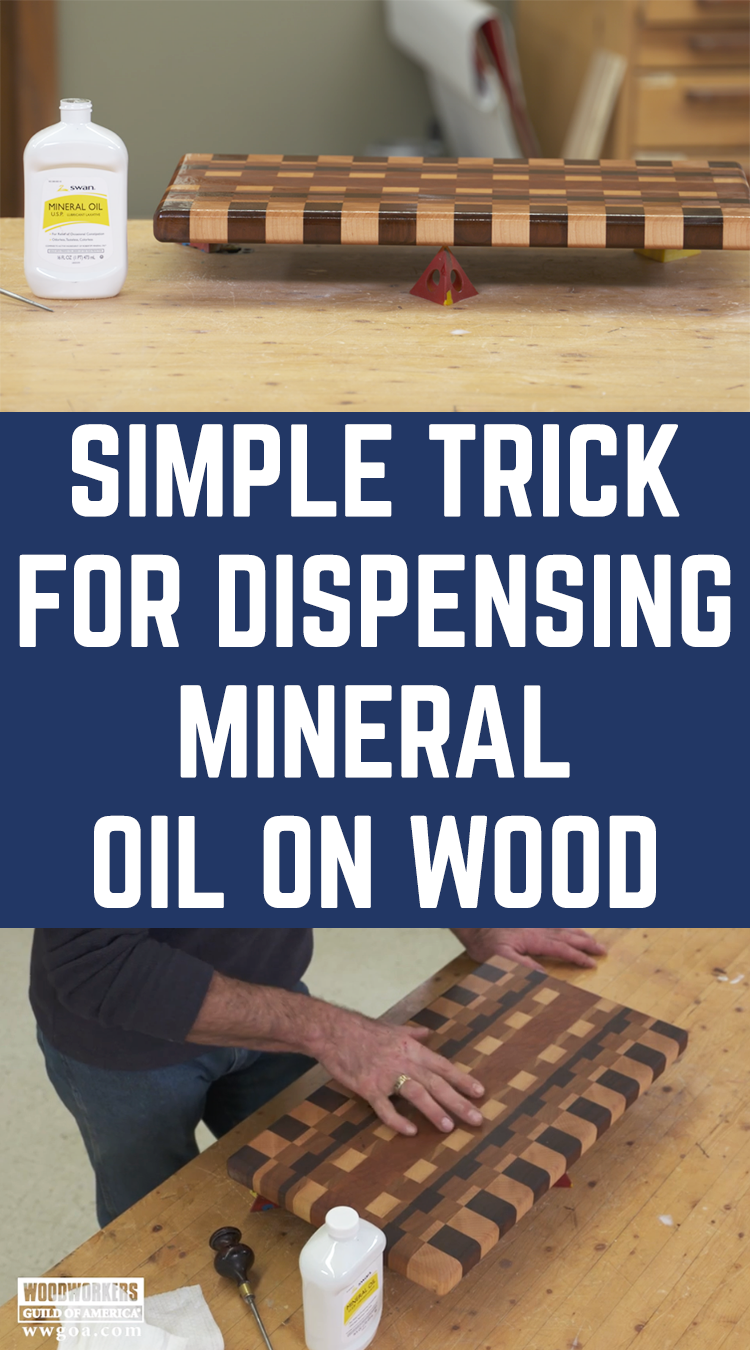 Why put mineral oil on wood? The biggest reason is that it's an