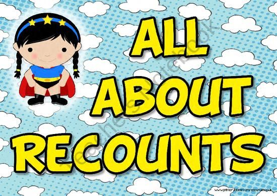 All About Recounts Poster Pack product from Primary Classroom Resources on TeachersNotebook.com