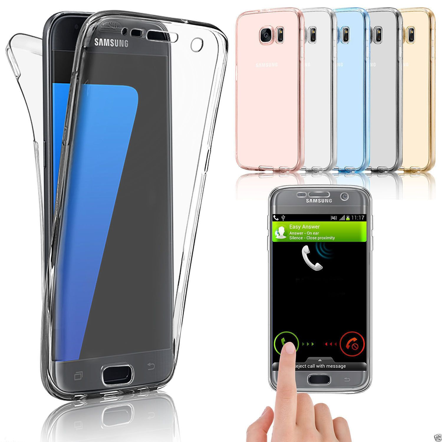 599 Clear Shockproof 360 Silica Tpu Full Slim Case Cover