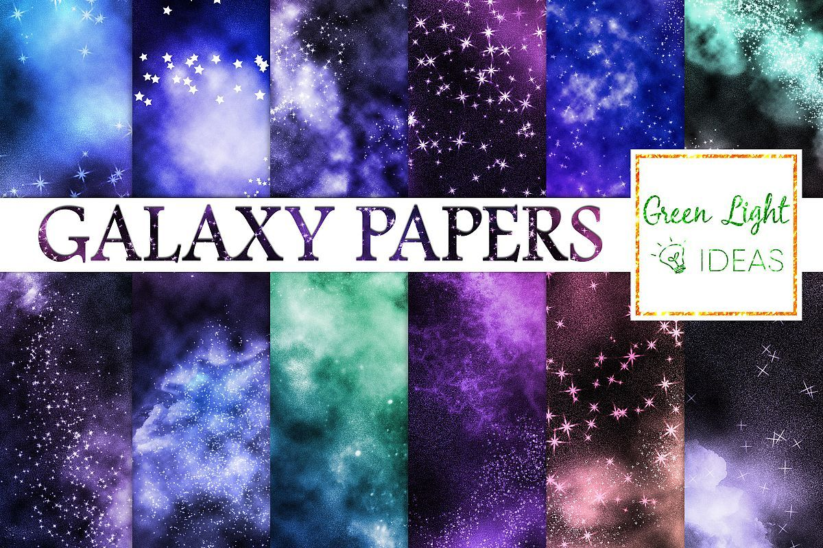 Galaxy Digital Papers Digital Paper Galaxy Background Scrapbooking Projects