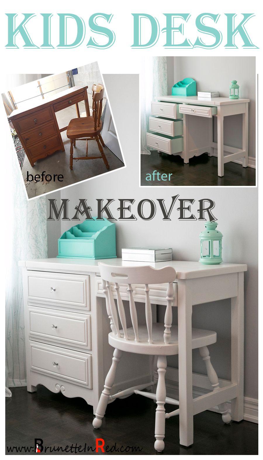 repurposed furniture for kids. |Kids |Desk |Makeover |Repurposed Old Desk. #diy #makeover # Repurposed Furniture For Kids