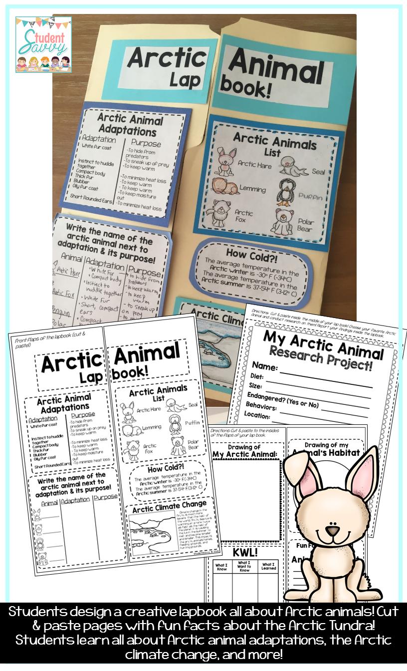 Arctic Animals Lapbook Arctic animals, Arctic, Animal