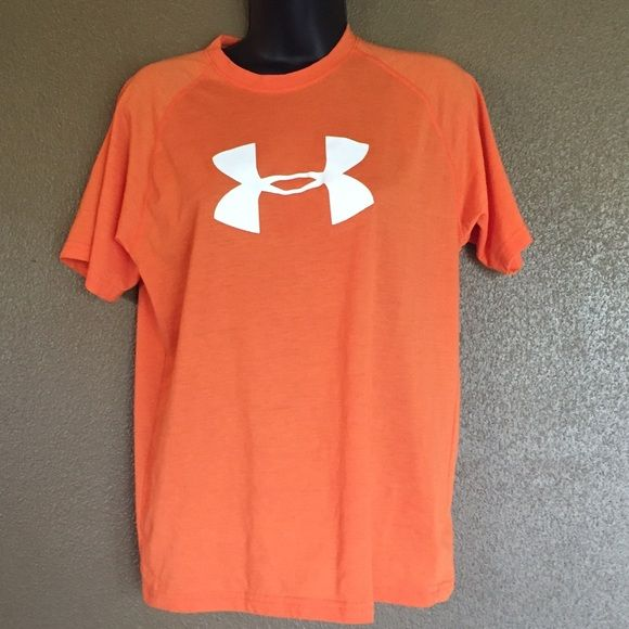 Orange Under Armour top Great condition orange Under Armour shirt. Size is youth extra large, but also fits a women's small. Under Armour Tops Tees - Short Sleeve