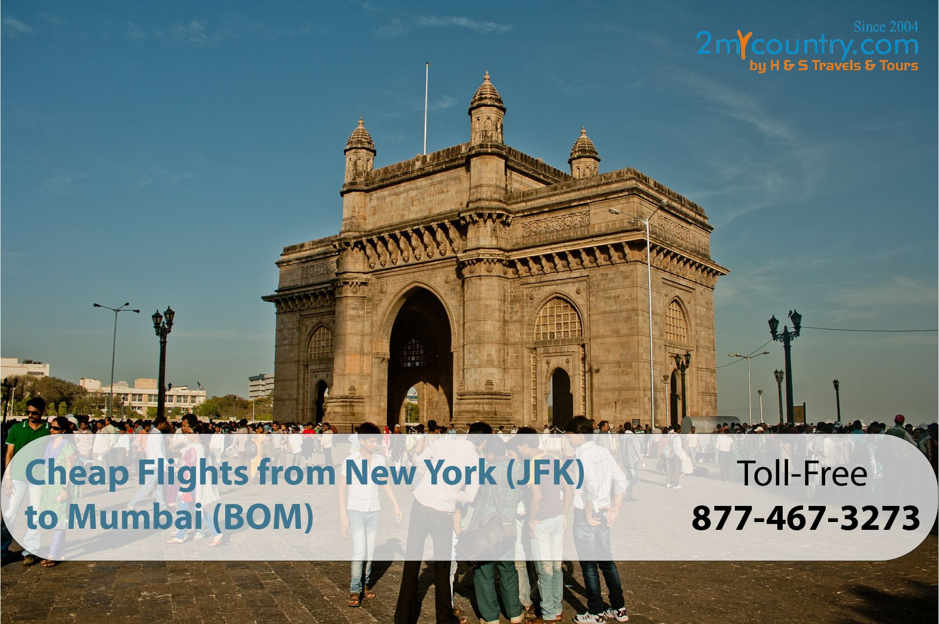 Choose 2mycountry to book your next flight from JFK to BOM. We are available 24/7 with BBB A+ Ratings. CALL NOW!  #jfktobom  #cheapflights  #flighttickets  #2mycountry  #airfares #jfktobomflights #flightdeals #cheapairline #cheapflights