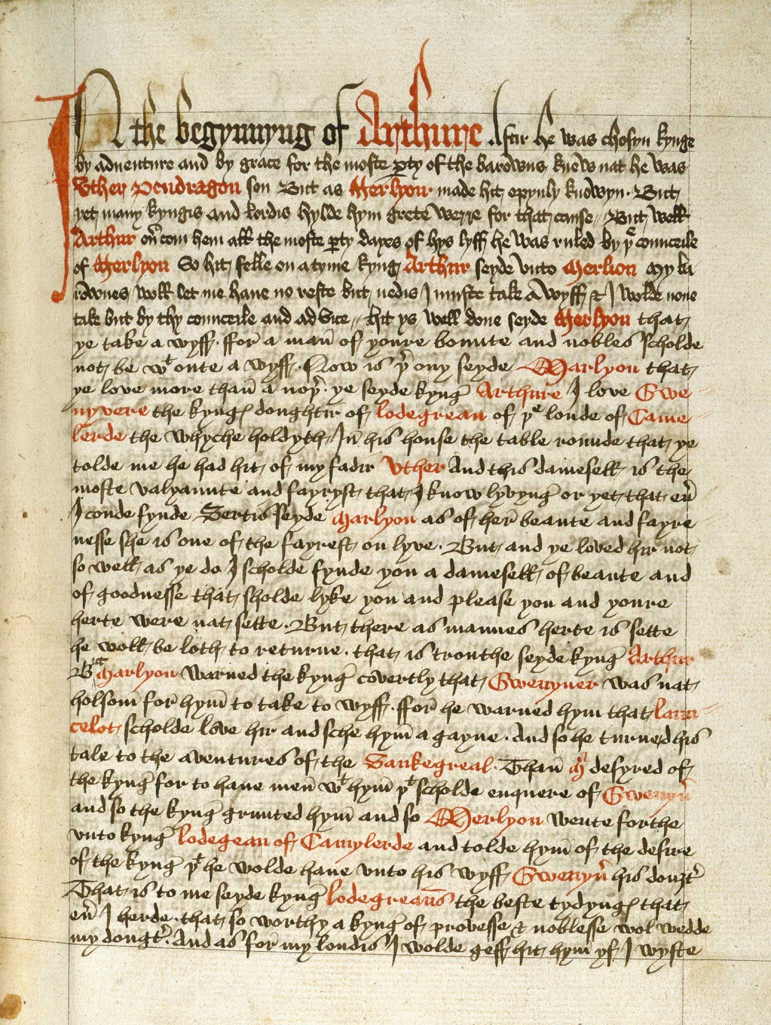 The legend of king arthur and the knights of the round table the legend of king arthur and the knights of the round table manuscript it was written by thomas malory in 1469 while he was imprisoned for a series of fandeluxe Images