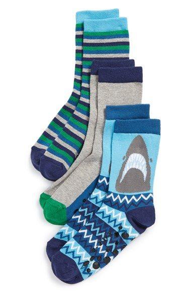 2787469ba Tucker + Tate 'Shark Stripe' Nonskid Socks (3-Pack) (Toddler, Little Kid & Big  Kid) available at #Nordstrom