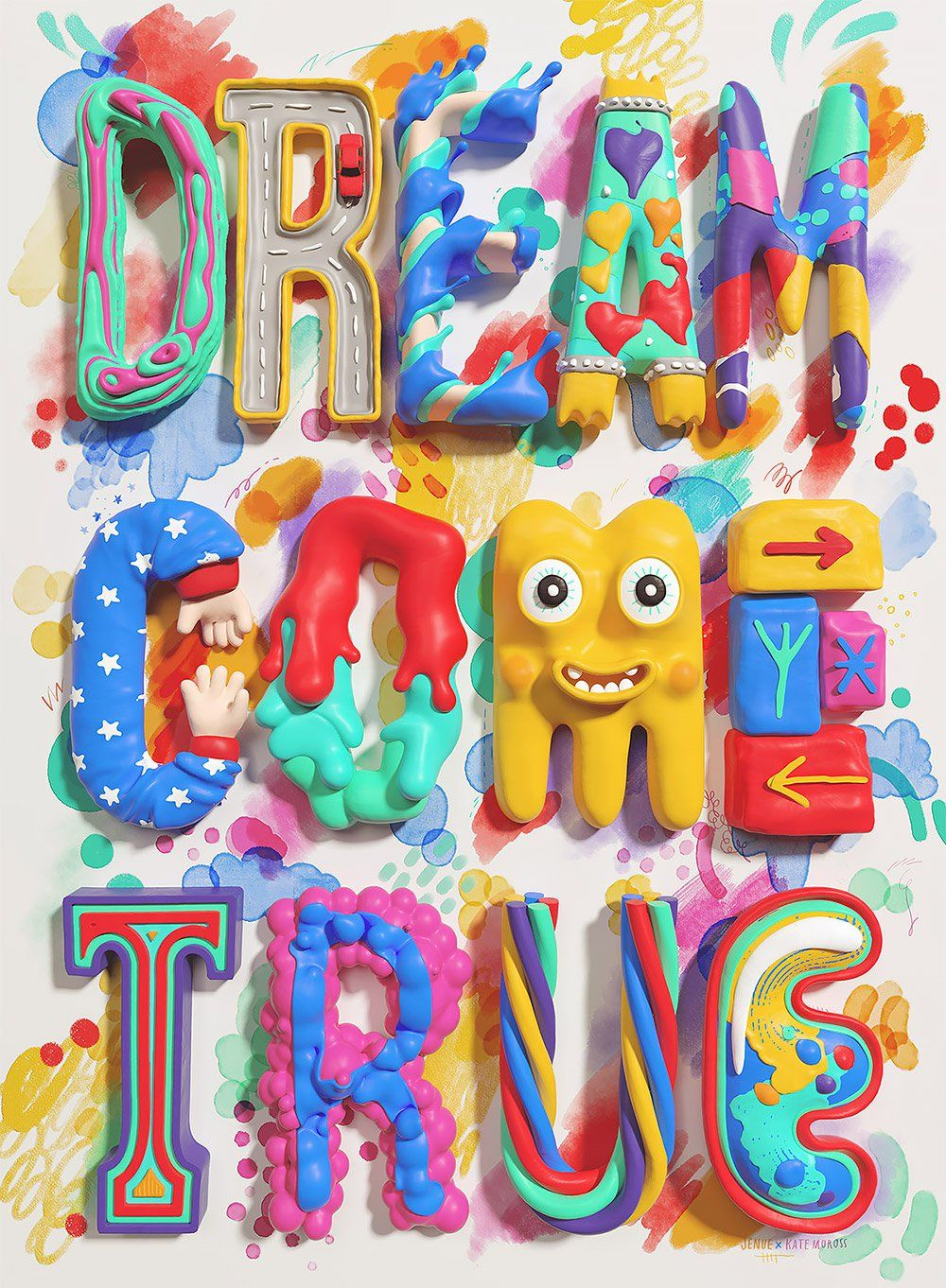 3D Typography by Jenue   Inspiration Grid