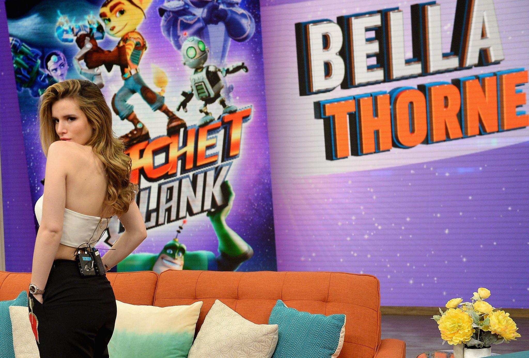 Bella Thorne at Univision's 'Despierta America' in Miami 4/7/16
