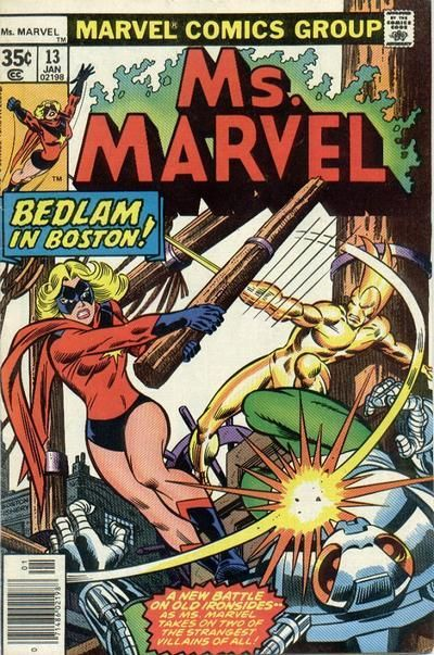 Ms. Marvel # 13 by Jim Mooney & Joe Sinnott