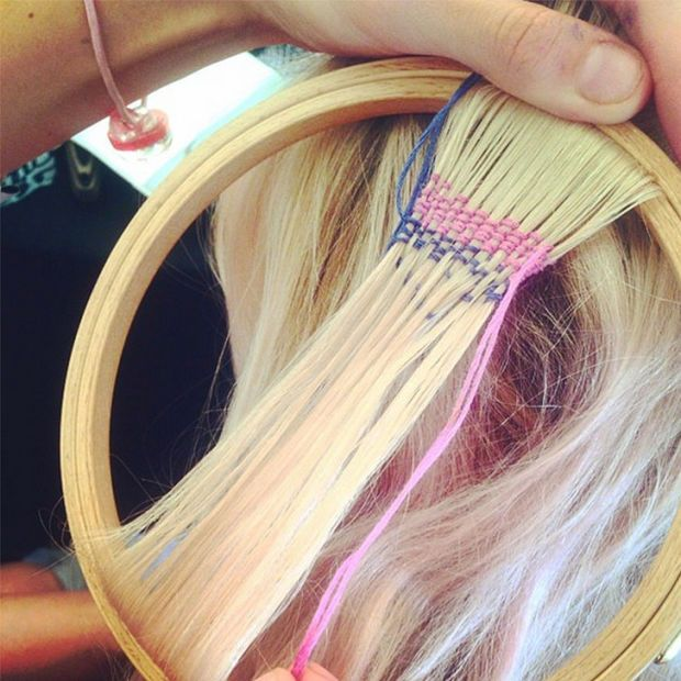 Hair tapestries are the latest festival-inspired hair trend. http://beautyeditor.ca/2015/08/08/sephora-subscription-box