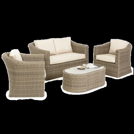 Maze Rattan - Winchester 2 Seat Sofa Set - Rattan Garden Furniture ...