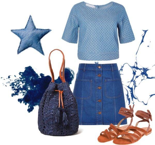 Look jeans com com bolsa saco de croche - modaemcroche.com.br