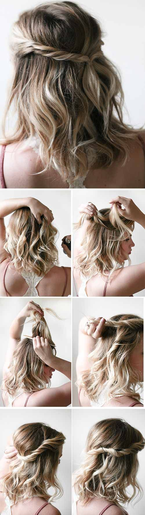 20 Incredible DIY Short Hairstyles   Cute hairstyles for ...