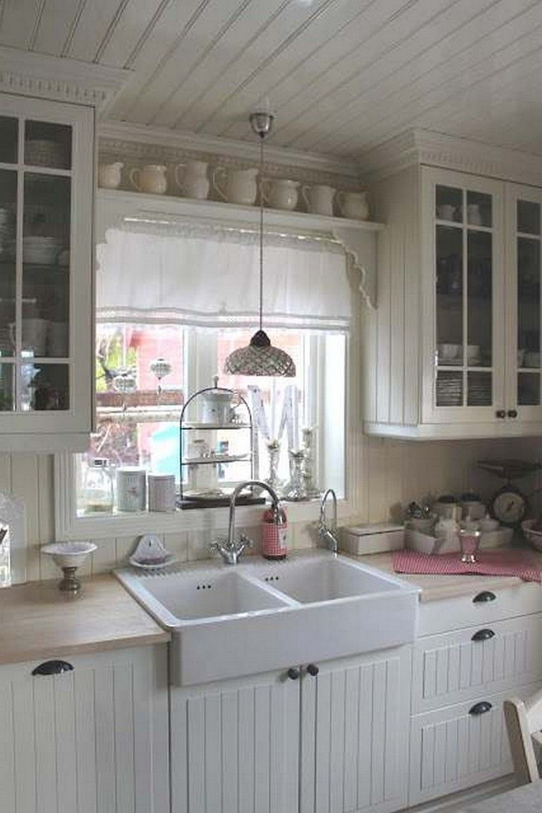 70 Graceful White Shabby Chic Kitchen Wall Shelves In 2020