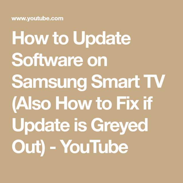 How To Update Software On Samsung Smart TV (Also How To