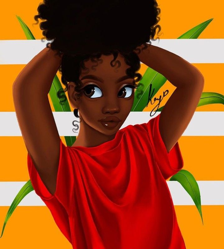 Black girl with afro wallpaper