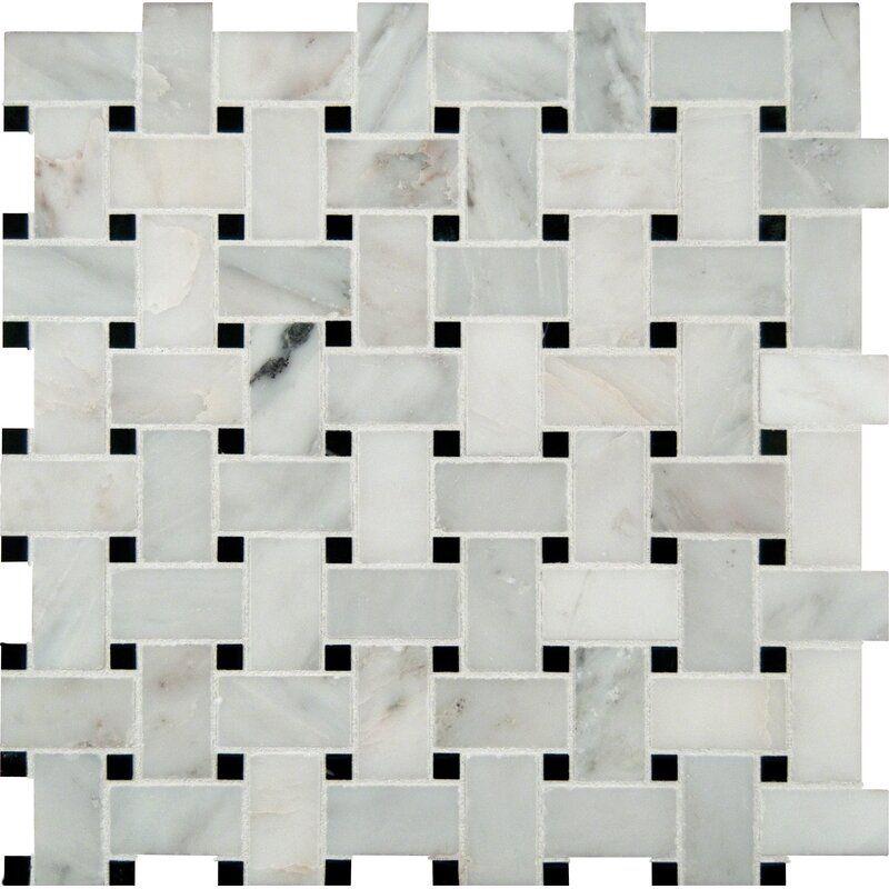Msi Random Sized 12 X 12 Natural Stone Mosaic Sheet Tile Reviews Wayfair In 2020 Marble Mosaic Tiles Mosaic Tiles Marble Mosaic
