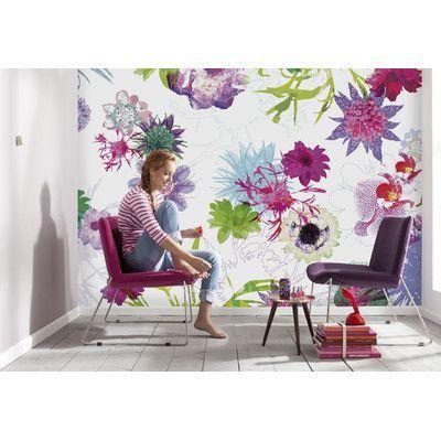 Brewster home fashions komar fleur de paris wall mural