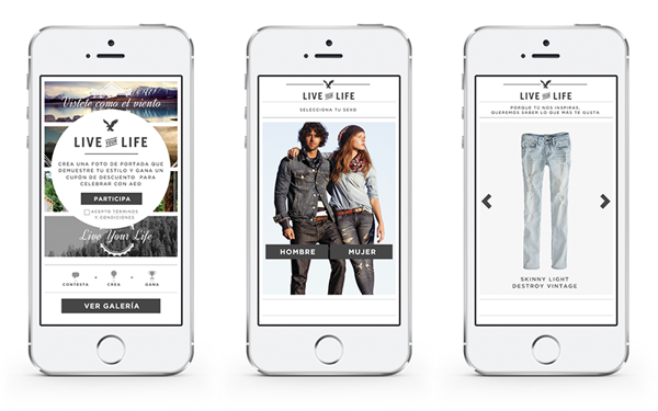 AEO Live Your Life app by Jasho Salazar, via Behance
