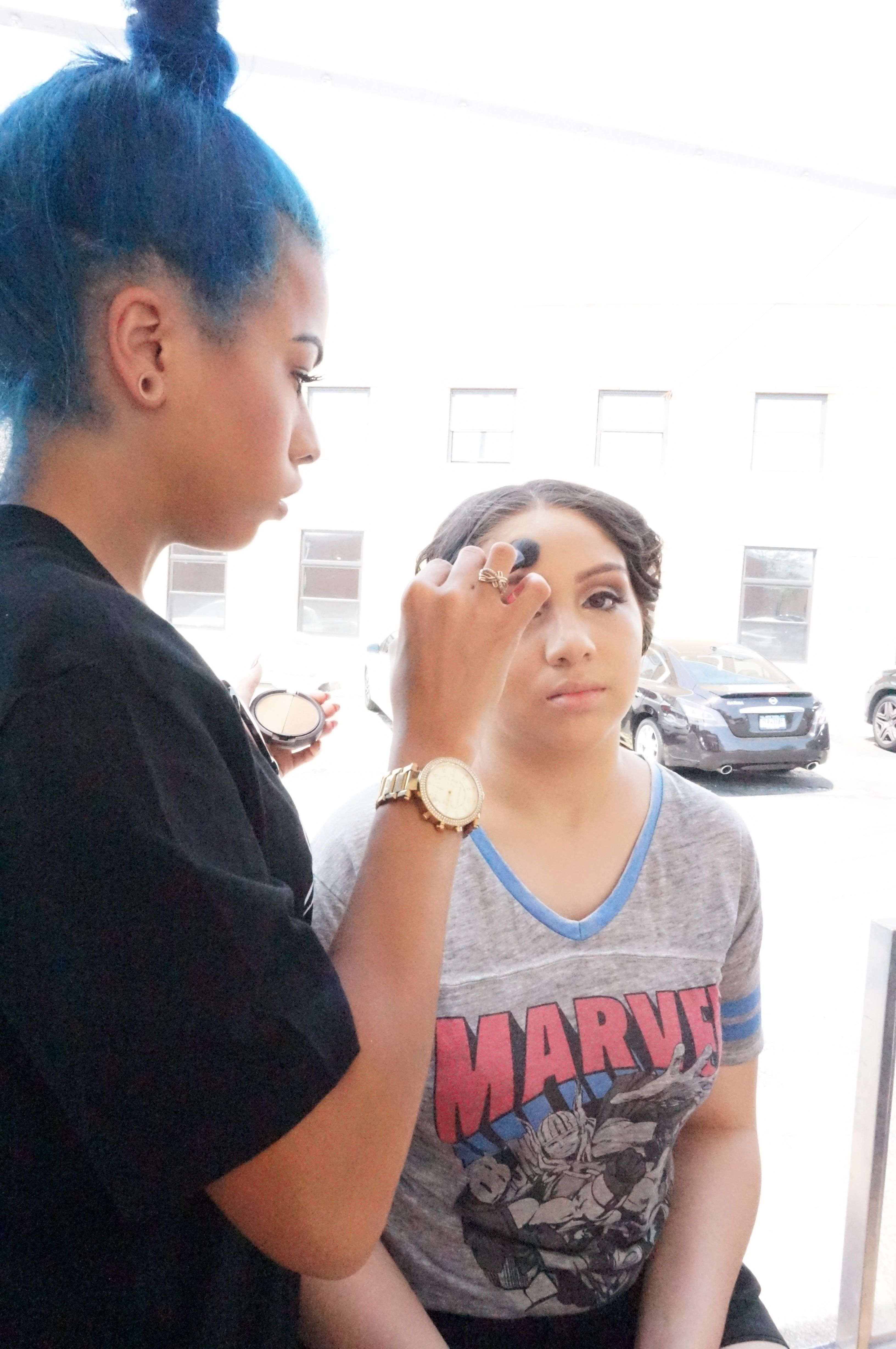 Sheamoisture did hair and makeup for lucky copiague high school