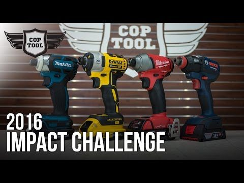 Brushless 18v Impact Driver Challenge 2016 Bosch Vs Dewalt Makita Milwaukee Tools