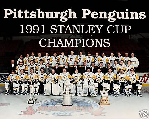 Pittsburgh Penguins 1991 Stanley Cup Championship Team Photo With Images Pittsburgh Penguins Stanley Cup Pittsburgh Penguins Pittsburgh Penguins Hockey