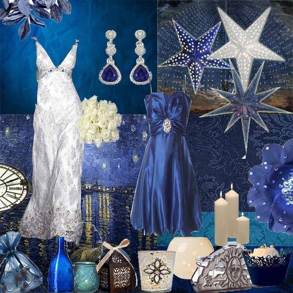 Starry Night Wedding Theme Midnight Blue