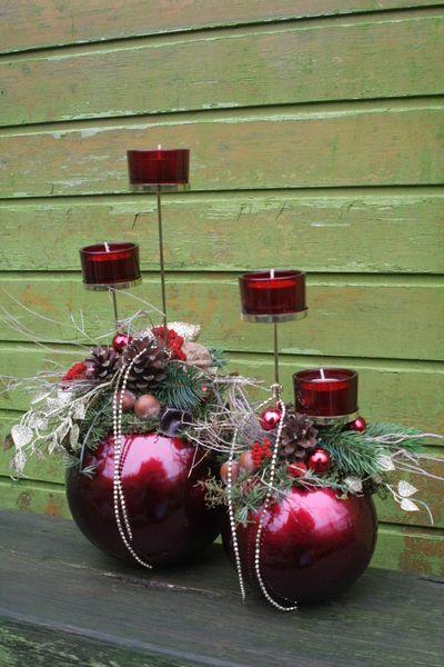 ::::::: Weihnachtskugel Duo :::::::: von :::::::: Blumerei Berger :::::::: auf DaWanda.com #weihnachtlicheszuhause
