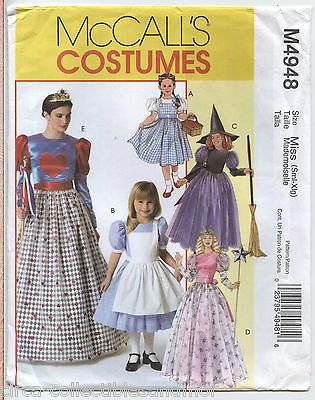 Queen Hearts Dorothy Good Witch Cinderella Costumes McCalls Sewing ...